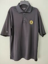 Antigua Mens Boston Bruins Polo Shirt Sz S