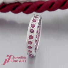 Schnäppchen: Schöner Rubin-Memoire-Ring mit 21 Rubinen - 14K/585 Weißgold