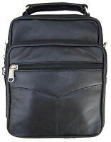 Mens Leather Cross body Messenger Shoulder Bag Satchel Small Handbag Tablet Kit