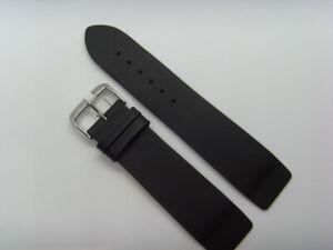 Watch Strap Leather Black 24 MM Slide Attachment Screws Skagen BERING 125