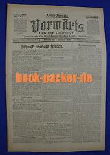 VORWÄRTS (1. September 1920): Pilsudski über den Frieden