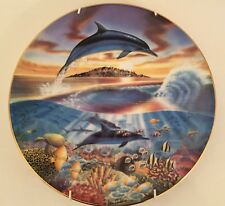 Royal Worcester Dance Of The Dolphin FREEDOM OF THE OCEAN Collector Plate