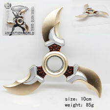 US Seller OVERWATCH Gold Silver Red Enamel Tri Blades Knife Star Ninja Shuriken