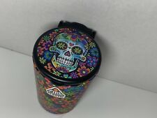 Portable Butt Bucket Cup Holder Cigarette Ashtray W/ LED Light- Floral