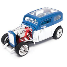 1931 FORD MODEL A CUSTOM WHITE/BLUE 1:18 MODEL CAR BY ROAD SIGNATURE 92849