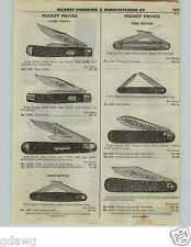 1922 PAPER AD Push Button Pocket Knife Knives Business Invincible Pine Knot
