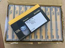 10 Panasonic Dvcpro 126L Aj-P126Lp Tapes Video Cassettes Set of 10 Used Once