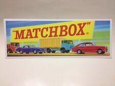 Very Rare Matchbox Lesney 1960's Shop Window Sign Sticker Decal Copy.