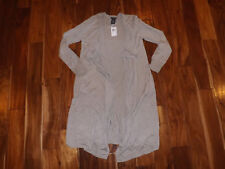 NWT Womens CHELSEA & THEODORE Extra Long Open Cardigan Sweater Oatmeal Size L