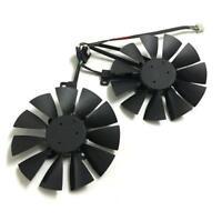 2pcs GPU Fan GTX 1070/1060 graphics card fan for asus dual GTX1060 GTX1070  4Pin