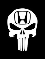 "HONDA skull the punisher car sticker 6"" vinyl High quality all types of honda!"