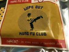 INVADER Limited Edition Street Art Wipe Out Kung Fu Club Shirt Hong Kong NEW HTF