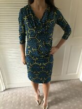 Lily And Me Retro Patterned Wiggle Dress Size 8