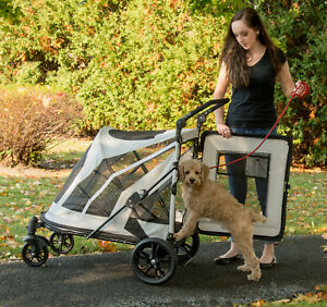 NEW Pet Gear NO-ZIP Expedition Extra Large Dog Cat Stroller Zipperless 2 Colors
