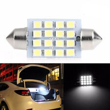 10Pcs x 39mm 3528 16SMD LED Light Car Dome Festoon Double-Tip Roof License Plate