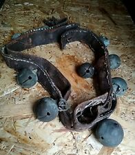 Vintage Retro Antiques Authentic Sleigh Bells Draught Brass Leater Handcrafted