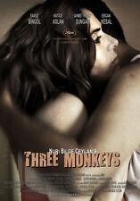 THREE MONKEYS Movie POSTER 27x40 D Yavuz Bingol Hatice Aslan Rifat Sungar Ercan