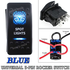 5 Pin ON/OFF Blue LED Toggle Rocker Switch SPOT LIGHTS for ATV UTV Off Road 4X4
