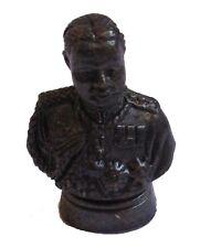 Figurine buste Roi Rama V Thaïlande décoration collection bronze noir