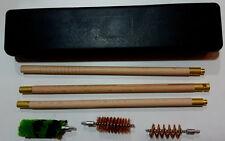 6pc Canna di Fucile in Legno Scatola Kit di pulizia & 12 Gauge 12g Foro PISTOLA KIT SPAZZOLE