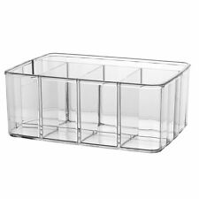 Bathroom Vanity Makeup Cosmetic Organizer Box Tray Storage Holder Clear Acrylic