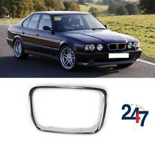 FRONT BONNET KIDNEY GRILLE TRIM CHROME RIGHT COMPATIBLE WITH BMW 5 E34 1994-1995