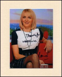 Louise Minchin BBC Breakfast Original Signed Mounted 10x8 Autograph Photo & COA