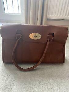 Large Tan Faux Leather Handbag