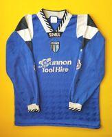 Gillingham match worn jersey autograph long sleeve shirt Spall soccer ig93