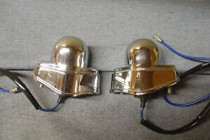 NEW MGB MGC NUMBER PLATE LAMPS AND PLINTHS LUCAS TYPE L534
