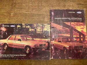 1981 Ford Cortina Mark V Operating Instructions And Maintenance Booklet Manual