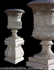 Grande Vaso Marmo Bianco Arredo Esterni Giardino Old DESIGN Marble Vase H.170cm