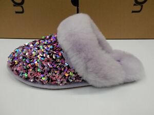 UGG Womens Scuffette II Stellar Sequin Lilac Frost 10