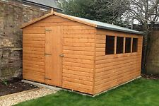 12x10 Wooden Garden Shed 12ftx10ft 12mm Shiplap Tongue & Groove Garden Shed