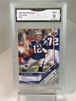 Mint 9: 2009 Tom Brady, Upper Deck Draft Edition Football Card #187 Patriots