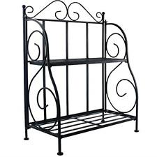 New listing 2 Tier Rack Fold able Shelf Kitchen Bathroom Counter top Storage Organizer Black