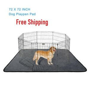 Tall Dog Playpen Crate Fence Pet Play Pen Exercise Cage Waterproof Blanket Sofa