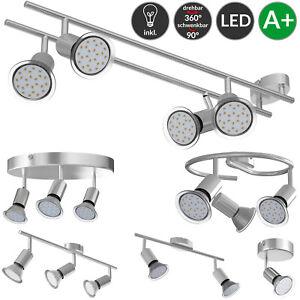 Deckenstrahler Deckenlampe Deckenleuchte LED 1 2 3 4 flammig warmweiß Spot GU10