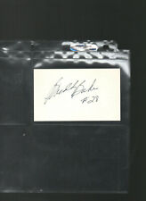 BUDDY BAKER AUTOGRAPH/AUTO/HAND-SIGNED INDEX CARD 3X5 B