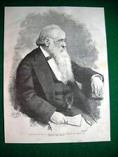 1885 - il politico italiano Agostino Depretis, presidente Consiglio Ministri