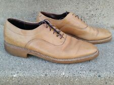 Vintage 80's DEXTER Beacon Hill Tan Beige Brown Shoes Vibram Soles size 9 Narrow
