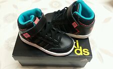 Boys adidas trainers shoes High top BASEBALL BOOTS  in black ,size UK 6 K ,BNIB