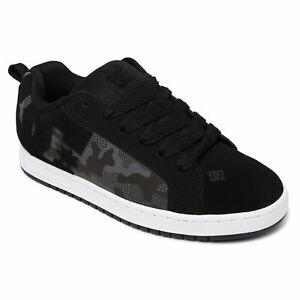 DC Shoes Homme Court Graffik Low Top Sneaker Noir / Imprimé Camouflage (0cp)