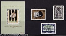 Hungary - 1961 Liszt - U/M - Sg 1769-1771 + Ms1771a