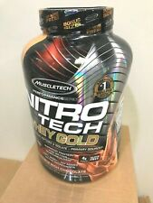 Muscletech Nitro Tech WHEY GOLD Protein 5.5 lb, 76 Serves CHOCOLATE - DENT CAN