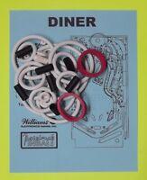 1990 Williams Diner pinball rubber ring kit