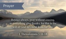 Pass Along Scripture Cards, Prayer, Rejoice, 1 Thes, 5:16-18, Pack 25