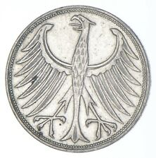SILVER - WORLD Coin - 1951 Germany 5 Mark - World Silver Coin *396