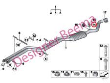 BMW 1' 3' X1 Series E81 E87 E88 E82 E90 Exhaust Pipe Front Muffler Holder (JS)