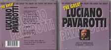 '95 CD THE GREAT LUCIANO PAVAROTTI - LUCIA DI LAMMERMOOR - LA BOHEME - RIGOLETTO